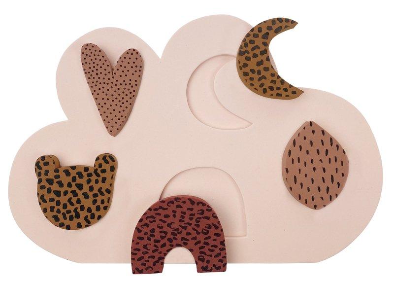 vanPauline Mijn Eerste Puzzel Meisje - Vormen Puzzel / Inlegpuzzel / Steekpuzzel - Vanaf 18 maanden  (1 / 2 jaar) - Roze