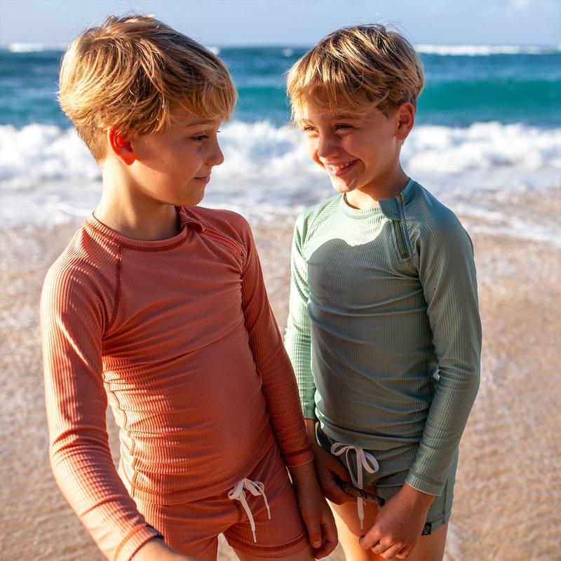 Beach & Bandits UV Strakke Zwembroek Kinderen Jongens - Clay / Klei Roestbruin