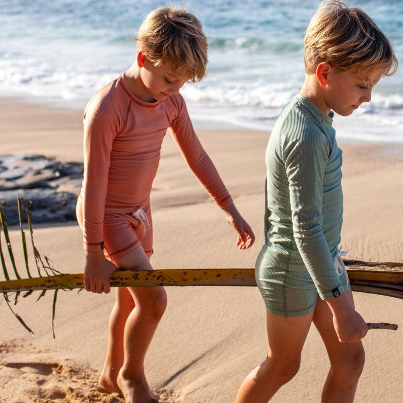Beach and Bandits UV Strakke Zwembroek Kinderen Jongens - Clay / Klei Roestbruin