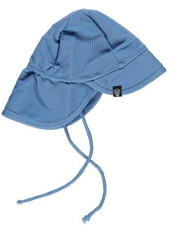 Beach & Bandits UV Zomerhoedje Zonnehoedje - Baby Kind Jongen Meisje - Reef Ribbed Blauw - Vanaf 6 maanden tot 1/2 jaar