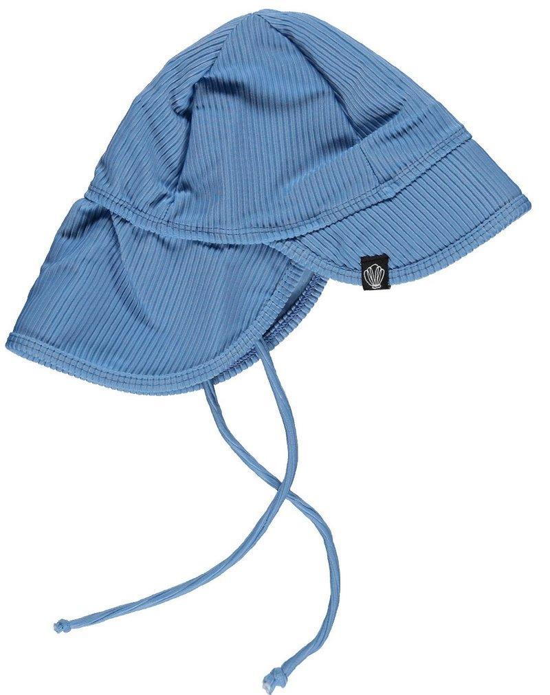 Beach and Bandits UV Zomerhoedje Zonnehoedje - Baby Kind Jongen Meisje - Reef Ribbed Blauw - Vanaf 6 maanden tot 1/2 jaar