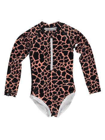 Beach & Bandits UV Zwemkleding Kinderen Meisjes Zwempak Met Lange Mouwen - Spotted Moray Vis