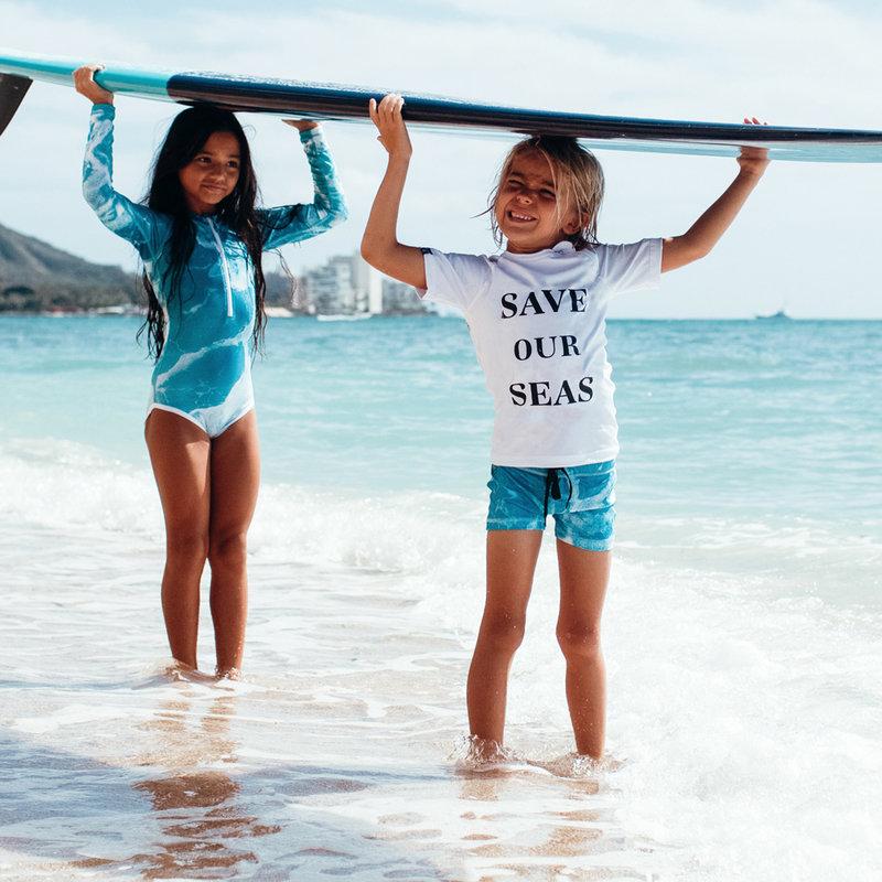 Beach & Bandits UV Zwemkleding Kinderen Meisjes Zwempak Met Lange Mouwen - Save Our Seas Plastic Soup Foundation