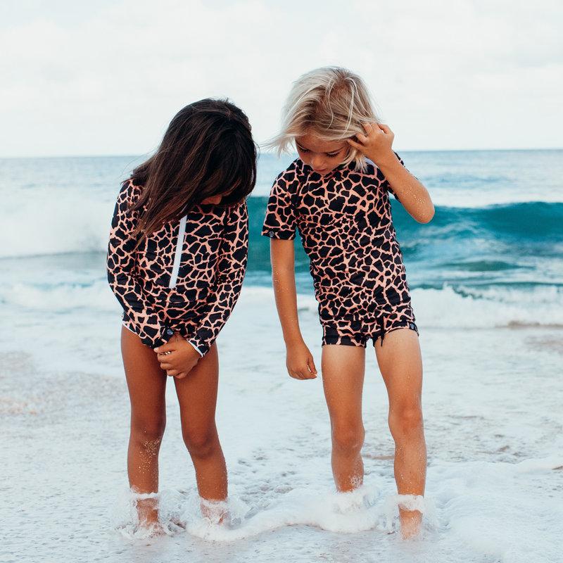 Beach and Bandits UV Zwemshirt Korte Mouw Kinderen Jongens Meisjes - Spotted Moray Vissenprint