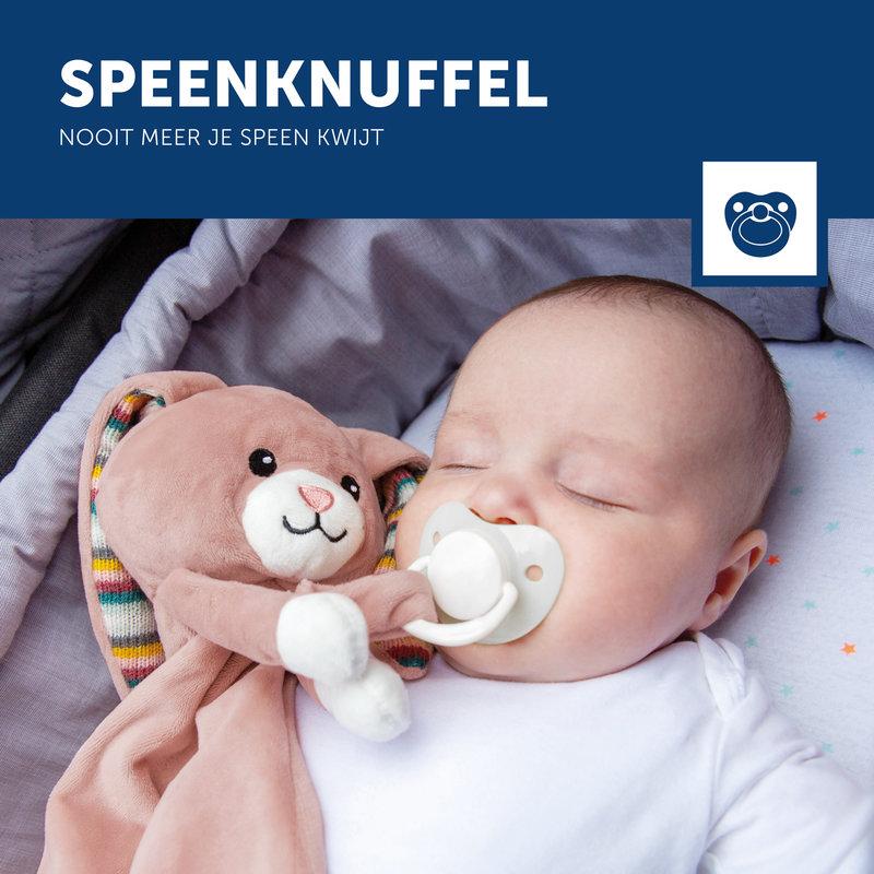 Knuffeldoekje Baby met Hartslag met Huilsensor - Konijn Becky Roze Meisje - Kraamcadeau