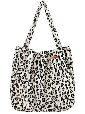 Your Wishes Mommy Tote Bag / Creme kleurige luiertas Luipaard Panter / Kinderwagen Luiertas /  Verzorgingstas Baby / Boodschappentas - Off White Leopard Jacquard