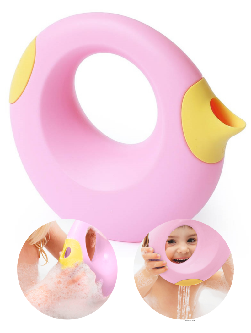 Quut Cana Speelgoed Gietertje - Tuin Bad Strand Speelgoed Meisje -  Cadeau 1 jaar | 2 jaar | 3 jaar | 4 jaar | 5 jaar - Geel Roze - Small 0,5 liter