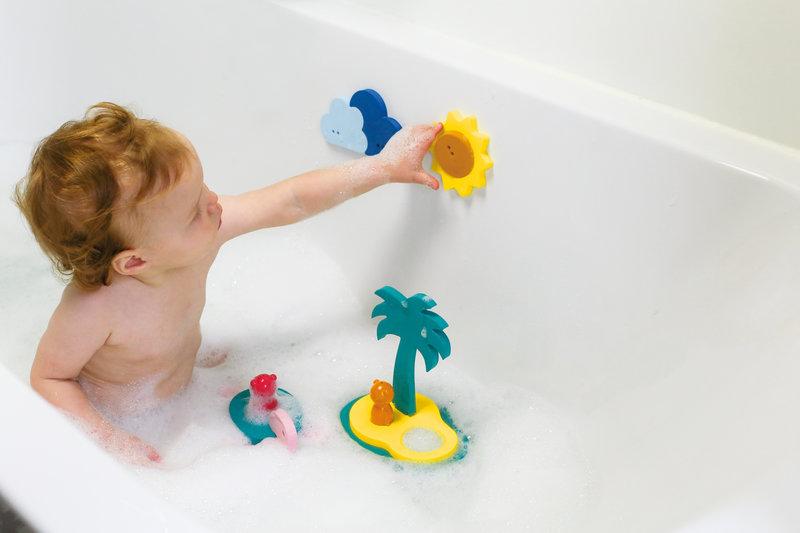 Quut Quutopia Foam Badspeelgoed Badpuzzel Treasure Island met Schildpad - Cadeau Baby Jongen Meisje 1 jaar | 2 jaar | 3 jaar | 4 jaar