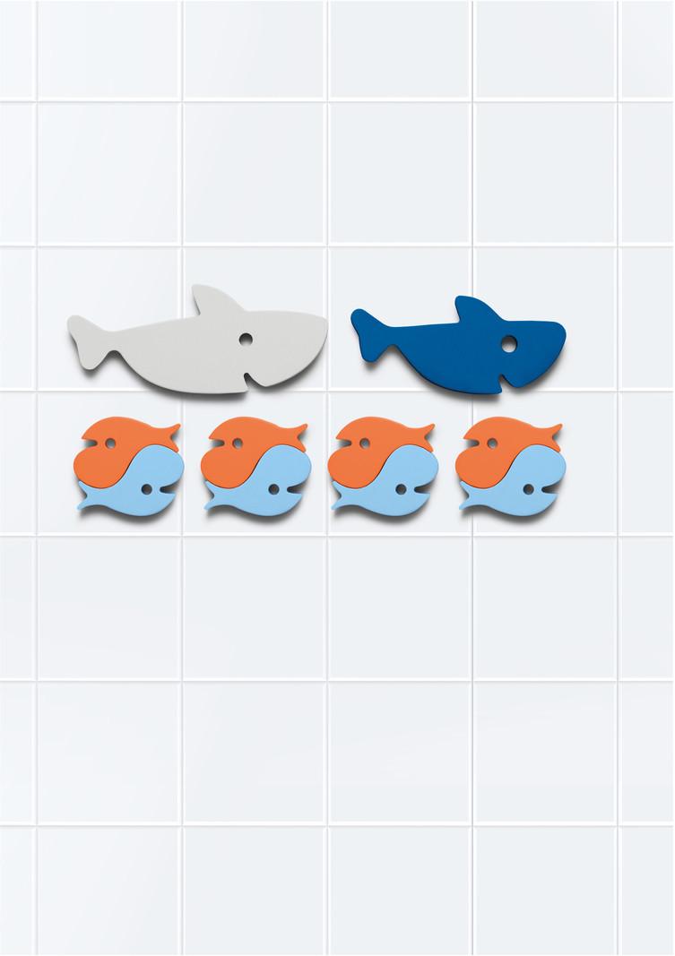 Quut Quutopia Foam Badspeelgoed Badpuzzel  Shark Haai Vissen - Cadeau Baby Jongen Meisje 1 jaar | 2 jaar | 3 jaar | 4 jaar