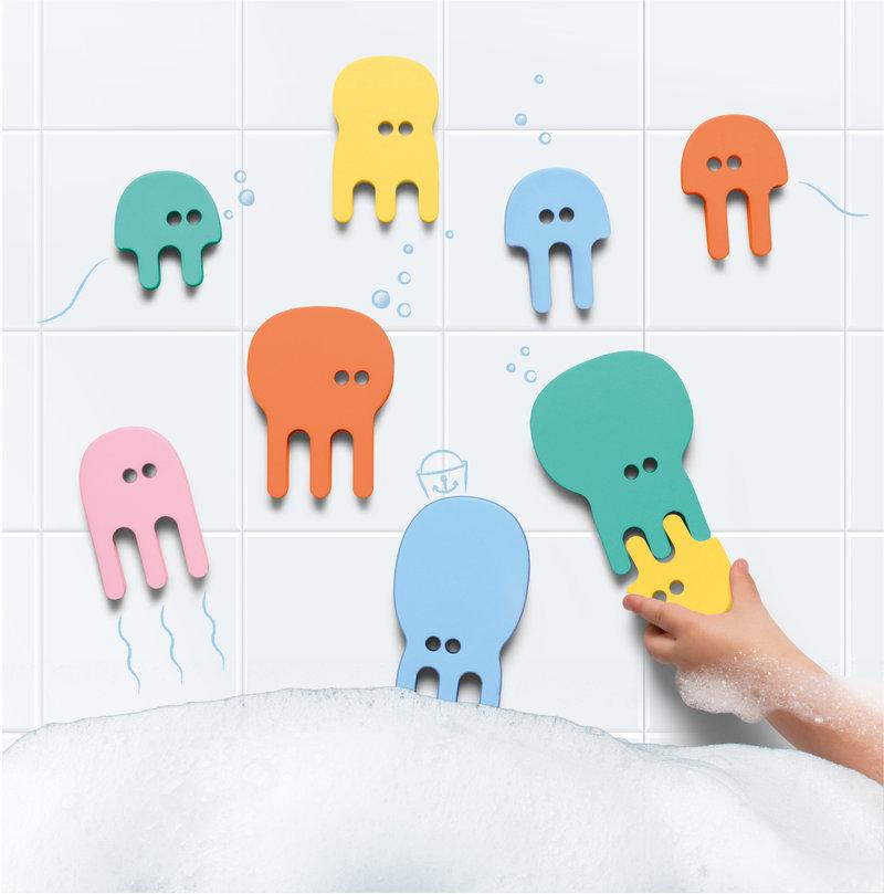 Quut Quutopia Foam Badspeelgoed Badpuzzel  Jellyfish Kwallen - Cadeau Baby Jongen Meisje 1 jaar   2 jaar   3 jaar   4 jaar