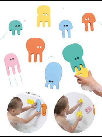 Quut Quutopia Foam Badspeelgoed Badpuzzel  Jellyfish Kwallen - Cadeau Baby Jongen Meisje 1 jaar | 2 jaar | 3 jaar | 4 jaar