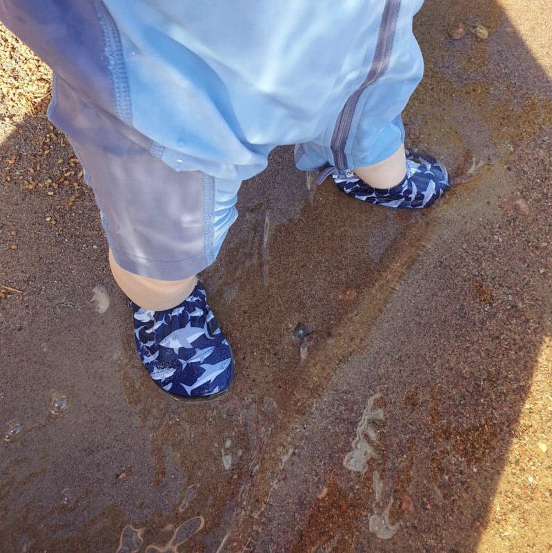 Slipstop Waterschoen Kinderen / Zwemschoen / Zwemslof / Antislip Schoen / Gymschoen - Jongen Meisje Uni - Neon Lichtblauw