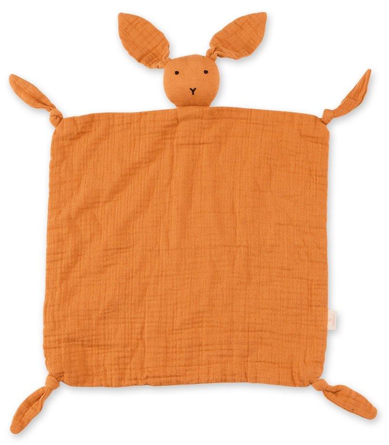 Bemini Knuffeldoekje Speendoekje Baby Konijn Oranje 40 x 40 cm