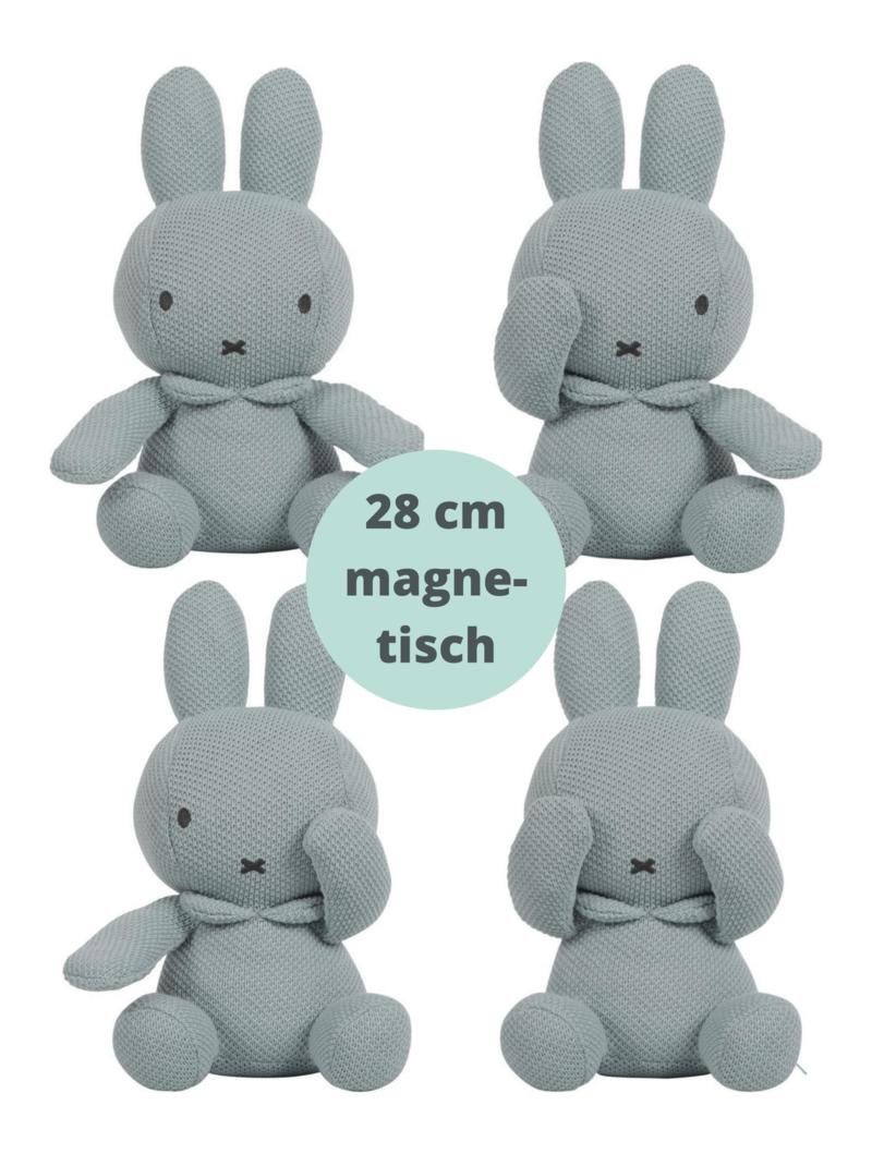 Nijntje Knuffel Baby Kiekeboe - Gebreid Magnetisch  Kraamcadeau Uni 28 cm - Groen