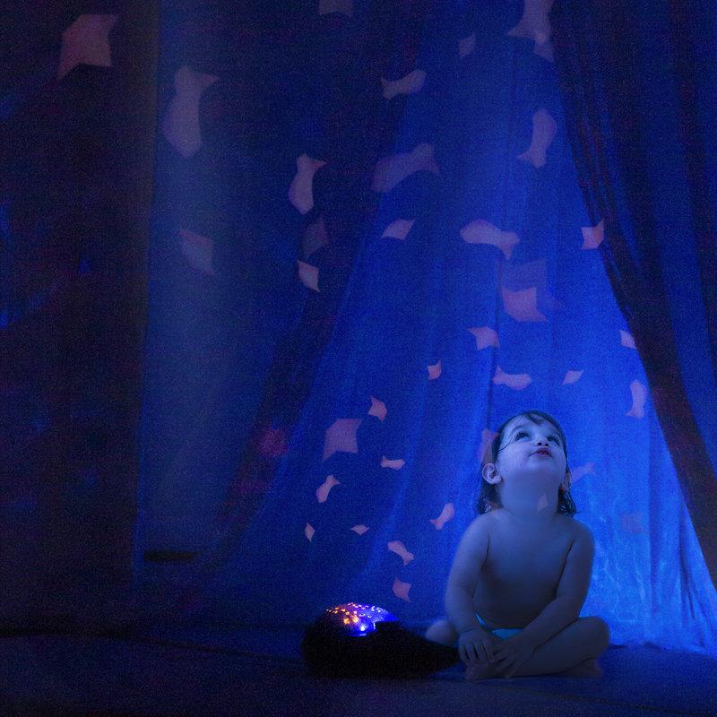 Pabobo Onderwaterprojector Aqua Dream Walvis met Vissen   Timer   Slaaplieder   White Noise
