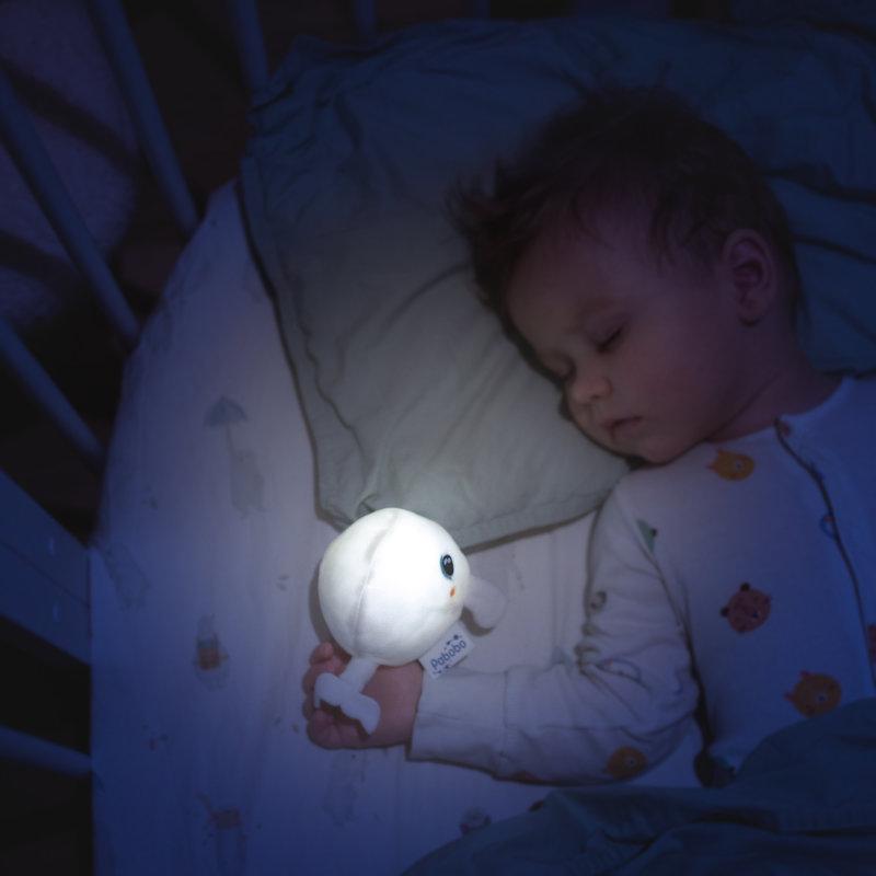 Pabobo Shakie Klein Knuffel Nachtlampje Walvis - Met Timer en Sensor