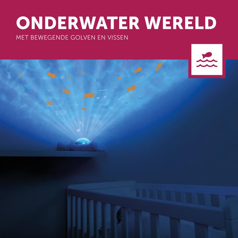 Oceaan Projector Golfjes Visjes Otto de Otter - Met Huilsensor en Timer