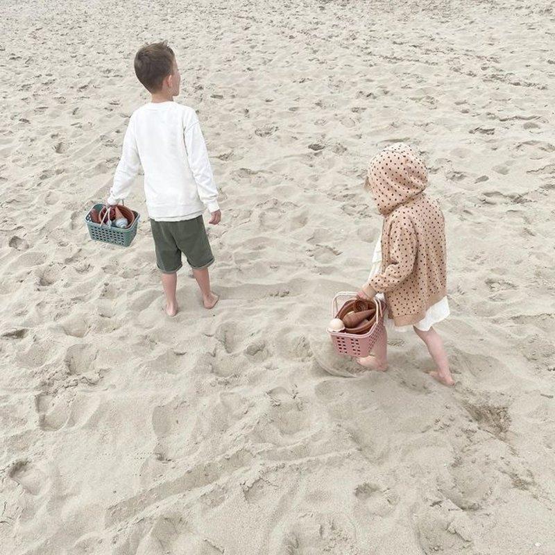 vanPauline Strandsetje Groen - Zandbak Speelgoed / Strandspeelgoed Jongen Meisje - Cadeau 1 jaar | 2 jaar | 3 jaar | 4 jaar | 5 jaar - 7-delig