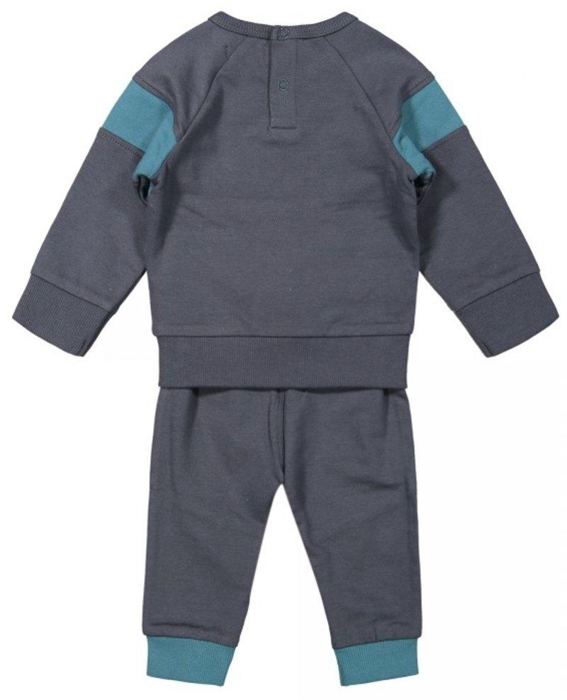 Dirkje 2-delig Jongens Baby Set Donkergrijs - Astro Galaxy