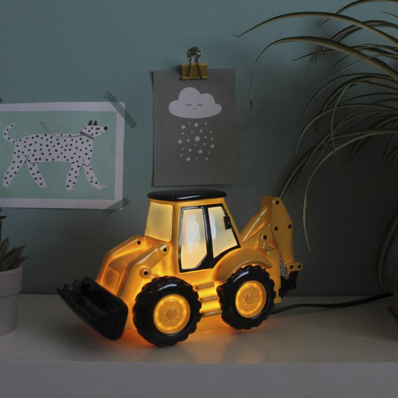 House of Disaster Shovel Graafmachine Nachtlampje Kind Jongen Kinderkamer - Geel