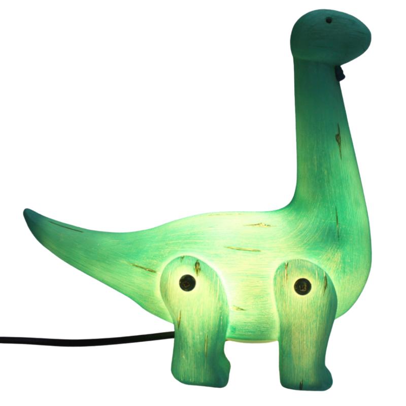 House of Disaster Dinosaurus Diplodocus Houtlook Nachtlampje - Kind Kinderkamer - Groen