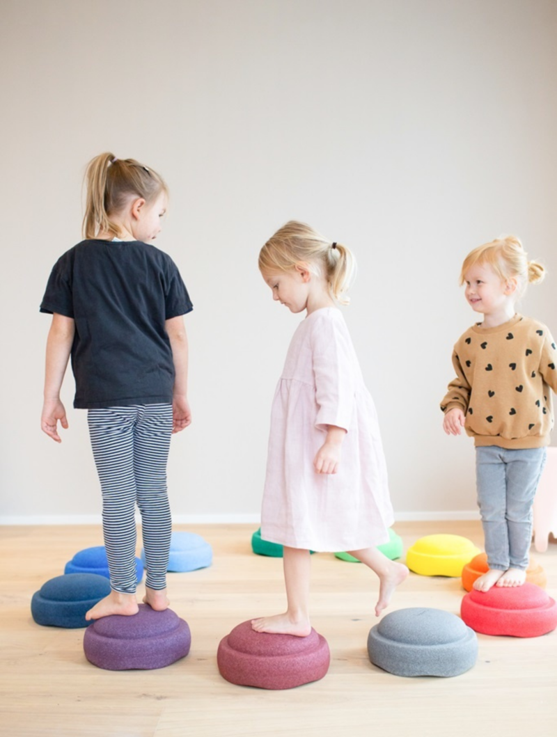 Stapelstein Stapelstenen Rainbow Groot Grijs  - Duurzaam Buiten en Binnen Speelgoed - 8-delig