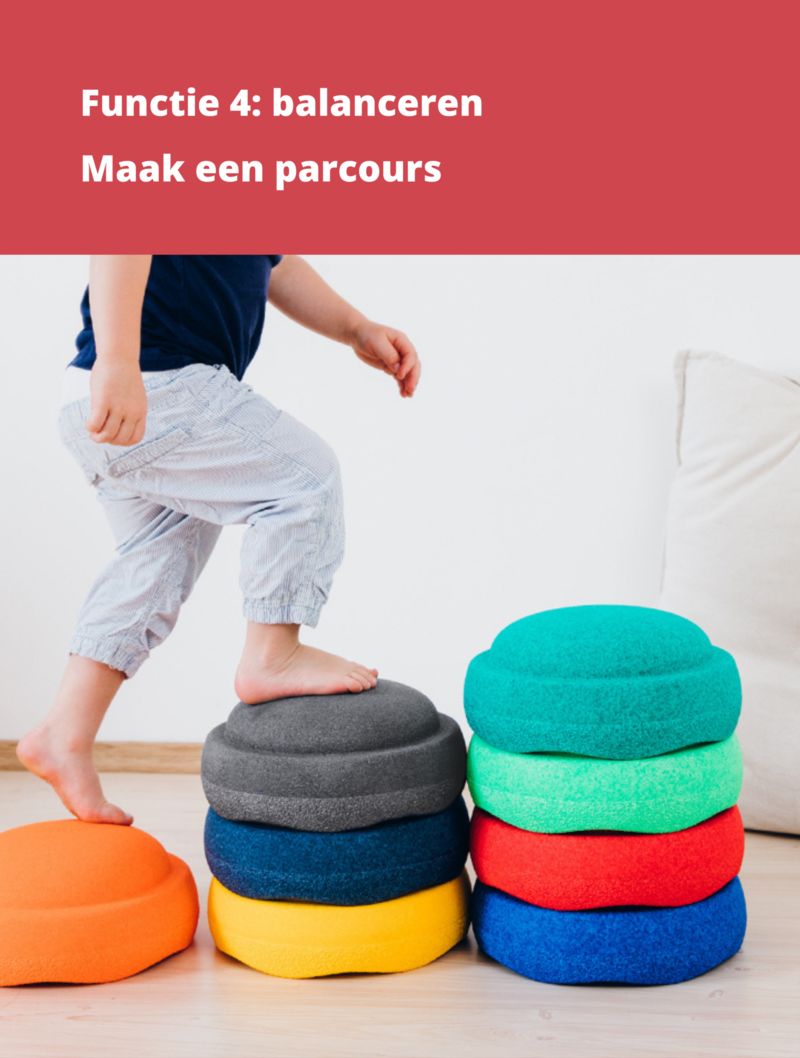 Stapelstein Stapelstenen Rainbow Grijs  - Duurzaam Buiten en Binnen Speelgoed - 6-delig