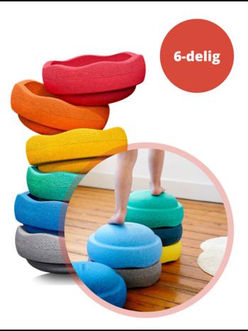 Stapelstein Stapelstenen Rainbow - Duurzaam Buiten en Binnen Speelgoed - 6-delig