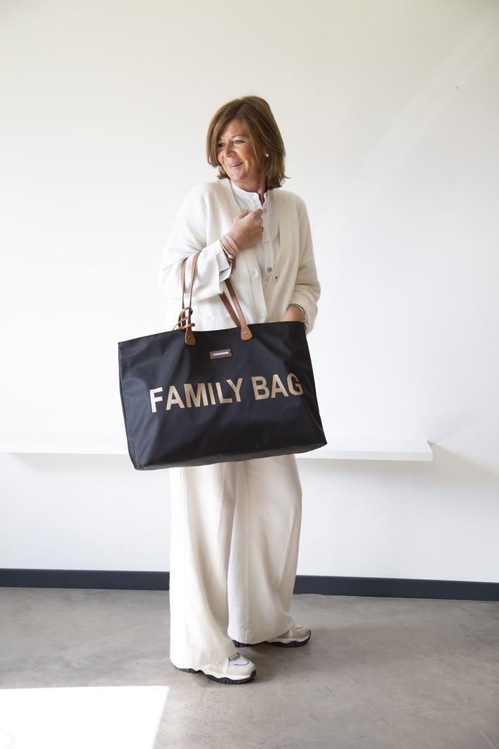 Childhome Family Bag Verzorgingstas Luiertas | Zwart met Goud