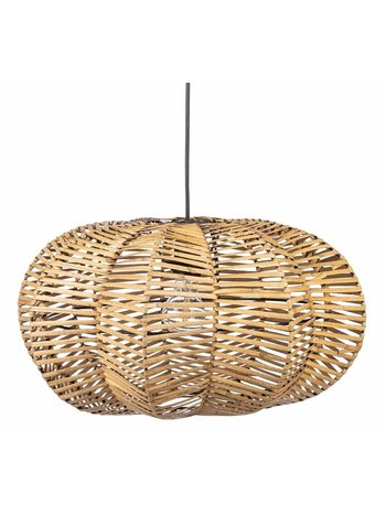 Kidsdepot Hanglamp Meis Rotan Naturel - 50 cm - E27 - Kinderkamer | Woonkamer | Keuken | Gang