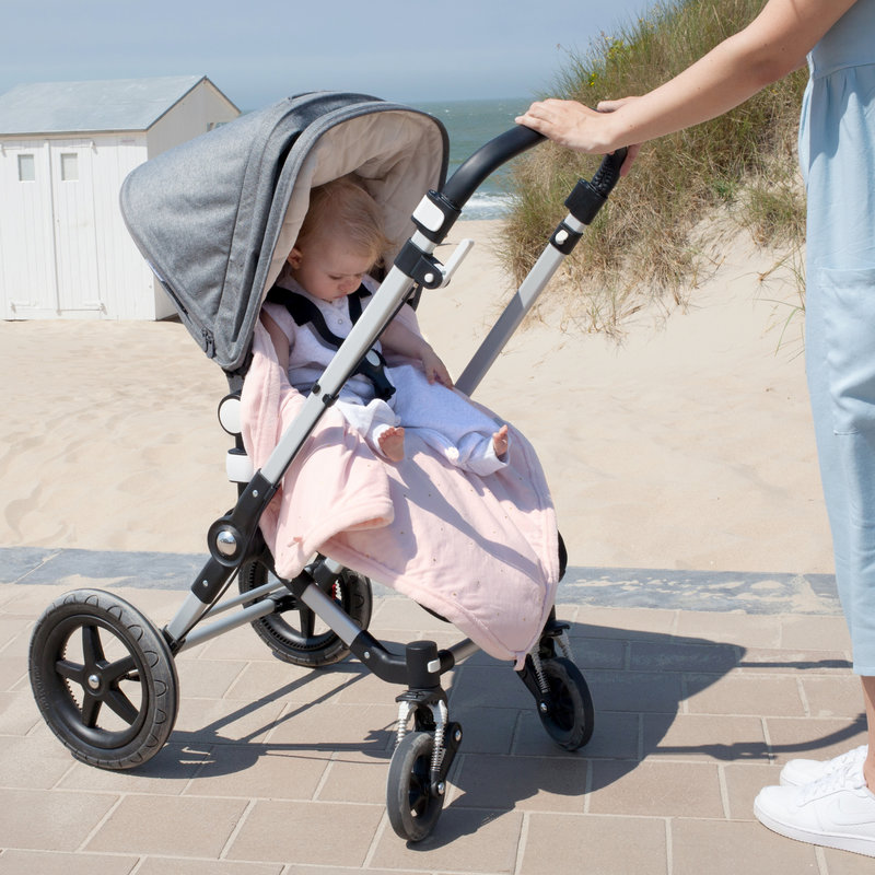 Bemini Wikkeldeken Baby Blush Roze - Autostoel Kinderwagen Buggy - 0 tot 12 maanden