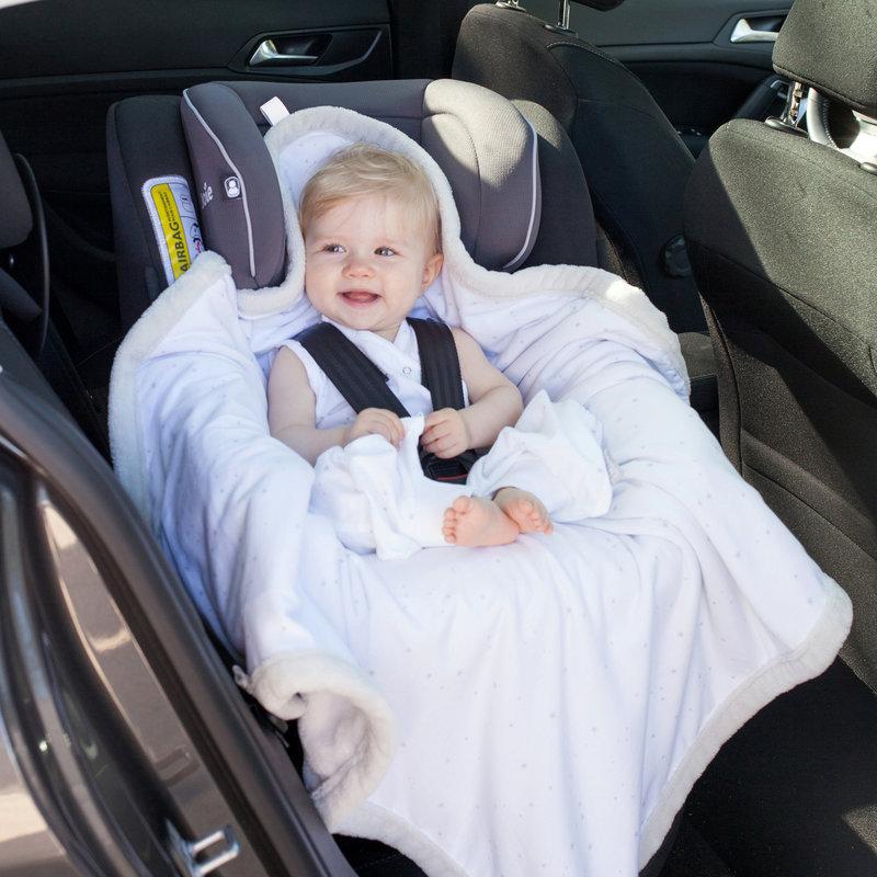 Bemini Wikkeldeken Baby Mineraal Blauw - Autostoel Kinderwagen Buggy - 0 tot 12 maanden