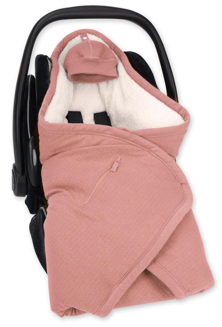 Bemini Wikkeldeken Baby Sienna Roze - Autostoel Kinderwagen Buggy - 0 tot 12 maanden