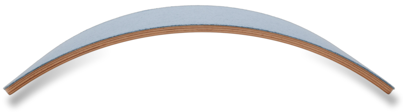 Wobbel Starter Sky Lucht Blauw Gelakt- Hout Met Vilt - Balance Board 70 centimeter - 0 tot 3 jaar