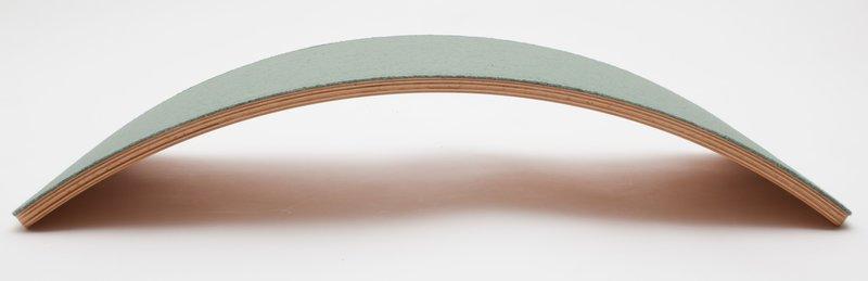 Wobbel Starter Forest Bos Groen Gelakt - Hout Met Vilt - Balance Board 70 centimeter - 0 tot 3 jaar