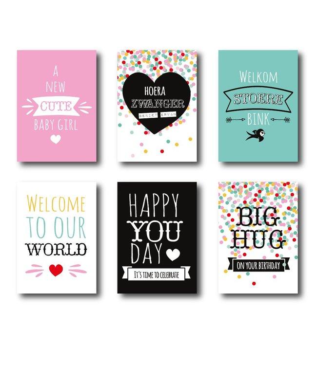 I.B.Z.M. kaarten 6-pack