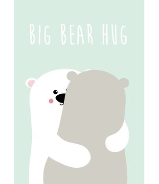 Studio Inktvis Postcard Big Bear Hug
