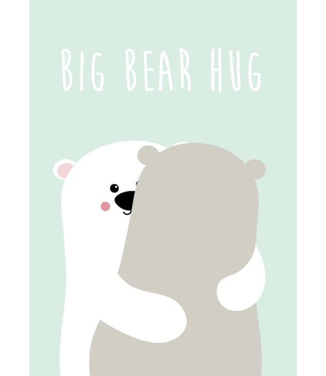Studio Inktvis Postcard Big Bear Hug