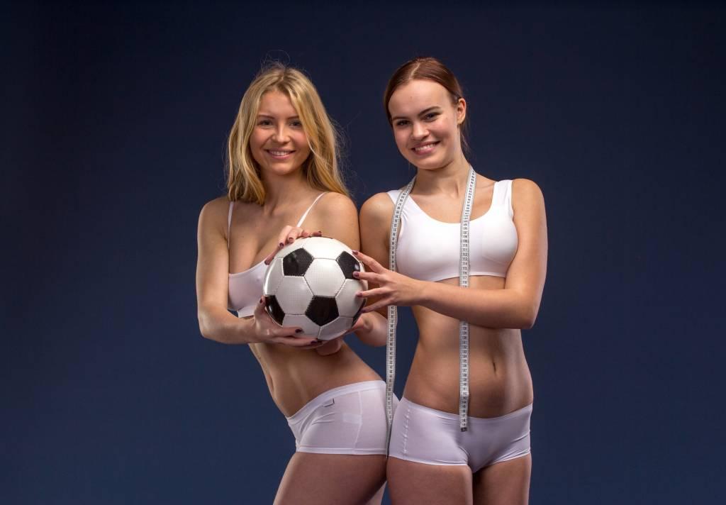 Voetballers in de mode