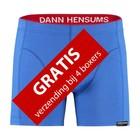 Koninklijk blauwe boxershort | Classique rode band