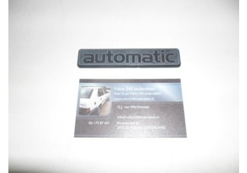 Belettering 'automatic' Volvo 300 - daf