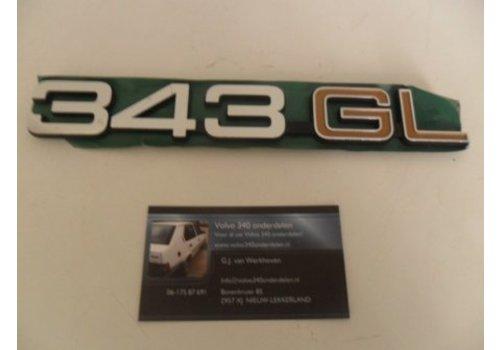Belettering embleem NIEUW Volvo 343 gl