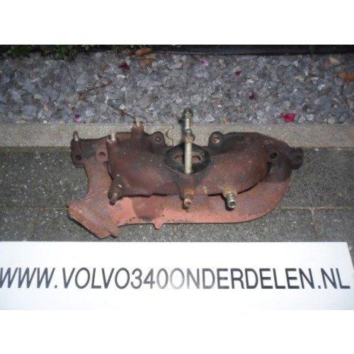 Spruitstuk in- uitlaat tbv B14.3 motor enkele voorpijp 3287268 Volvo 343,345,340