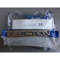 Emblem 'Injection' 3208937 from CH.121000- NEW Volvo 360