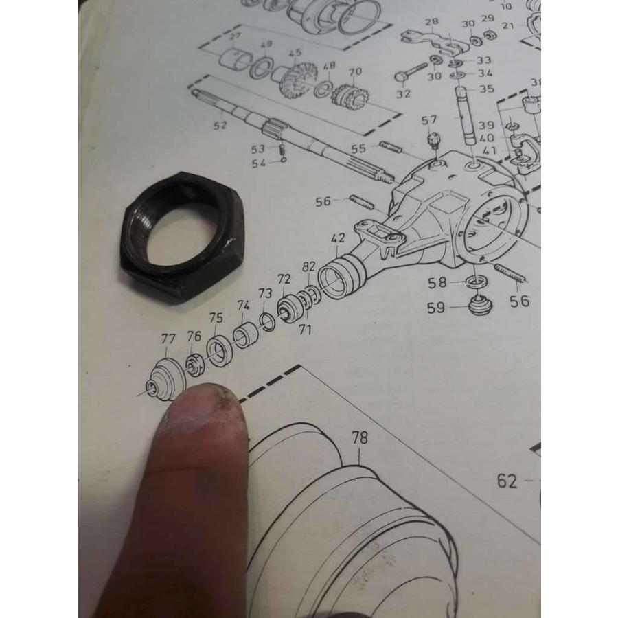 Nut CVT transmission primary output shaft 3290220-7 used Volvo 343, 345, 340