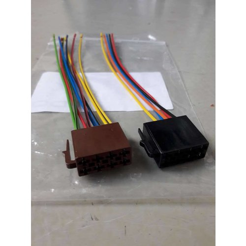 ISO connection cable plug set car radio 0504 NEW Universal