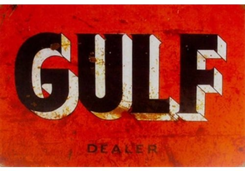 Metal logo facade board Gulf Dealer
