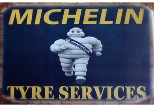 Metal logo sign Michelin Tire Service