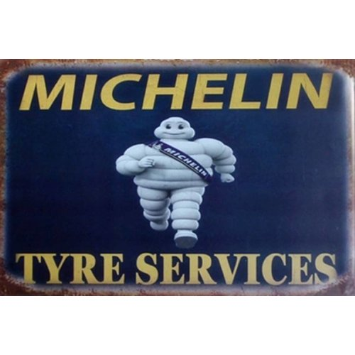 Metalen logo gevelbord Michelin Tyre Service