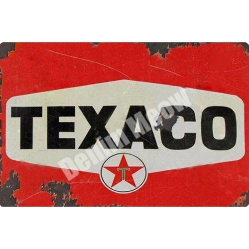 Metalen logo gevelbord Taxaco